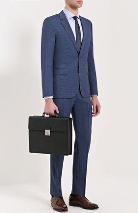 Кожаный портфель Ufficio с замком Dolce & Gabbana черный   Фото №2