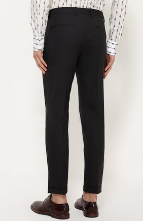Шерстяные брюки прямого кроя Dolce & Gabbana темно-серые | Фото №4