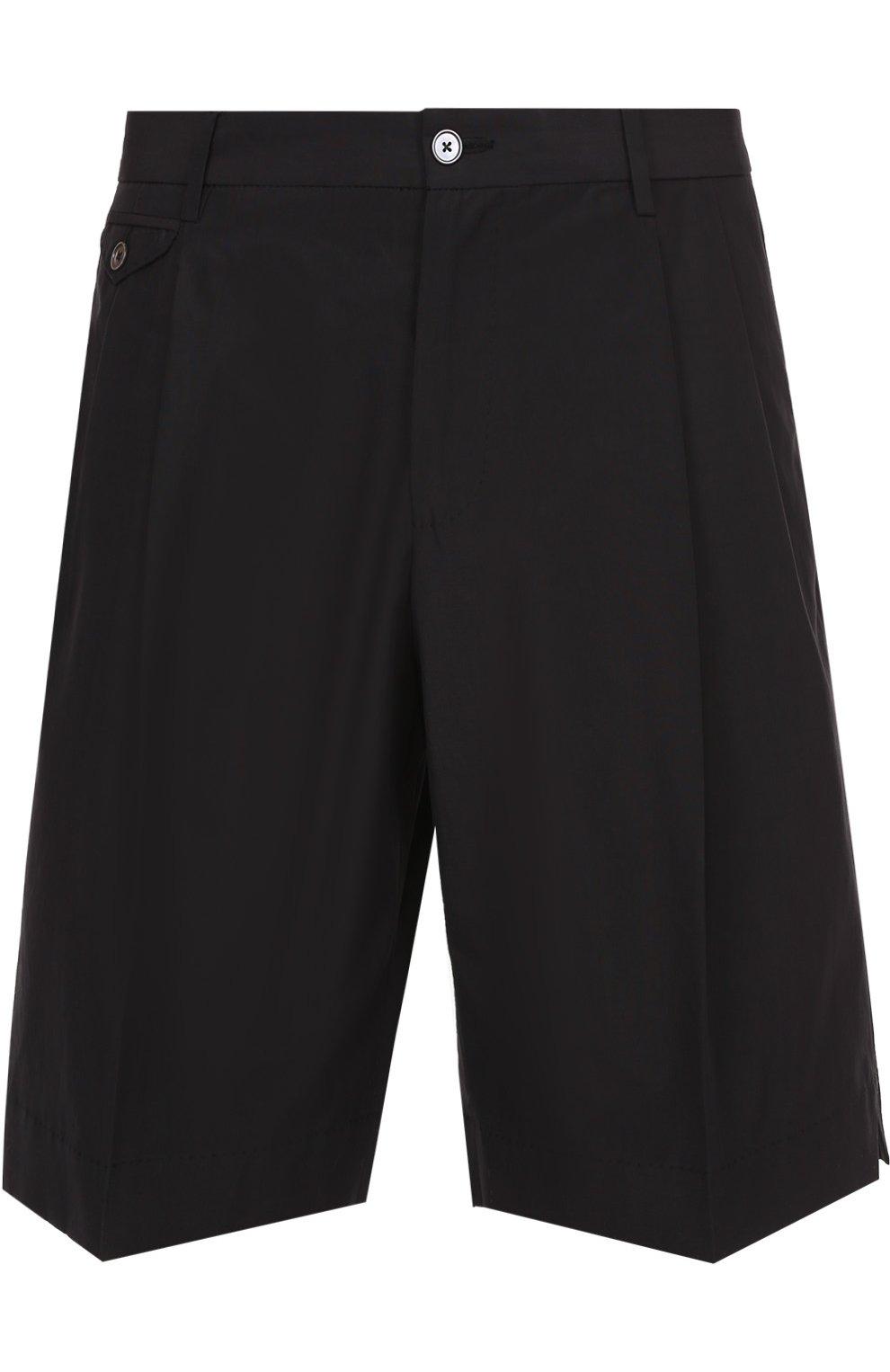 Хлопковые шорты свободного кроя с карманами | Фото №1