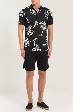 Хлопковые шорты свободного кроя с карманами Dolce & Gabbana черные | Фото №2