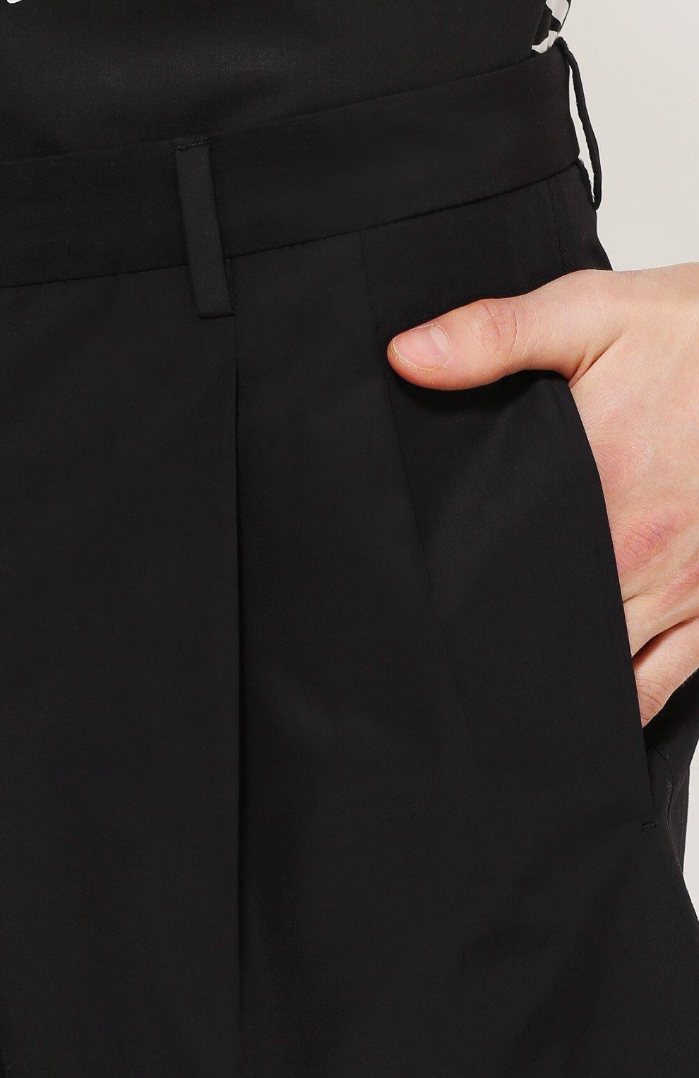 Хлопковые шорты свободного кроя с карманами Dolce & Gabbana черные | Фото №5