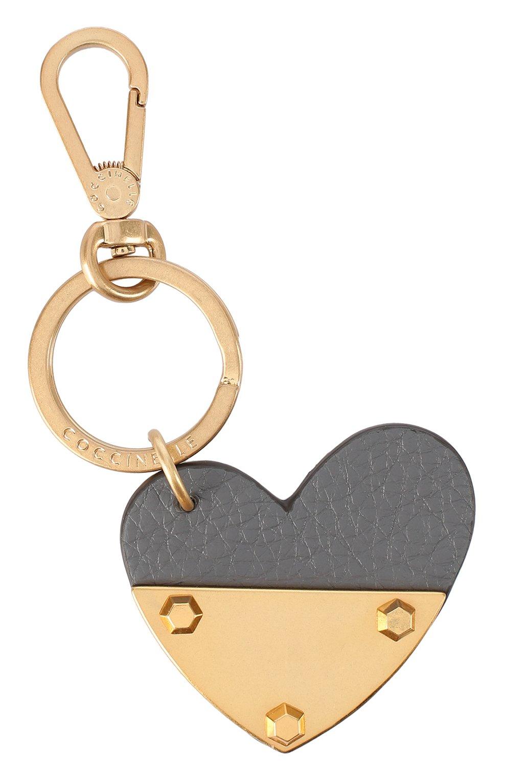Кожаный брелок в виде сердца | Фото №1