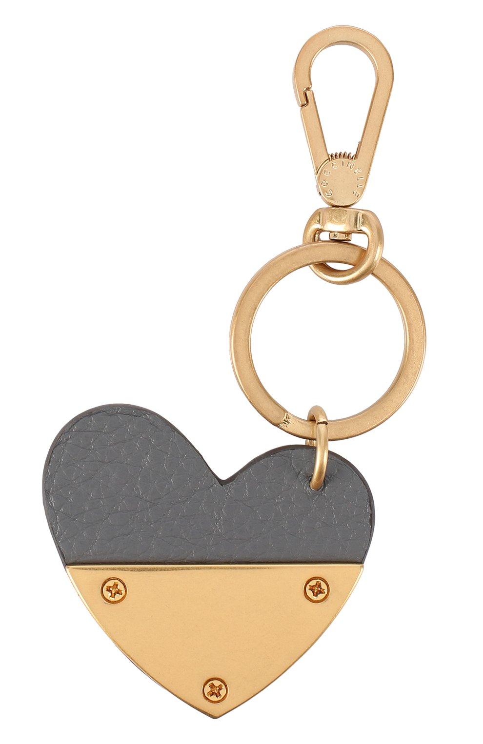 Кожаный брелок в виде сердца | Фото №2