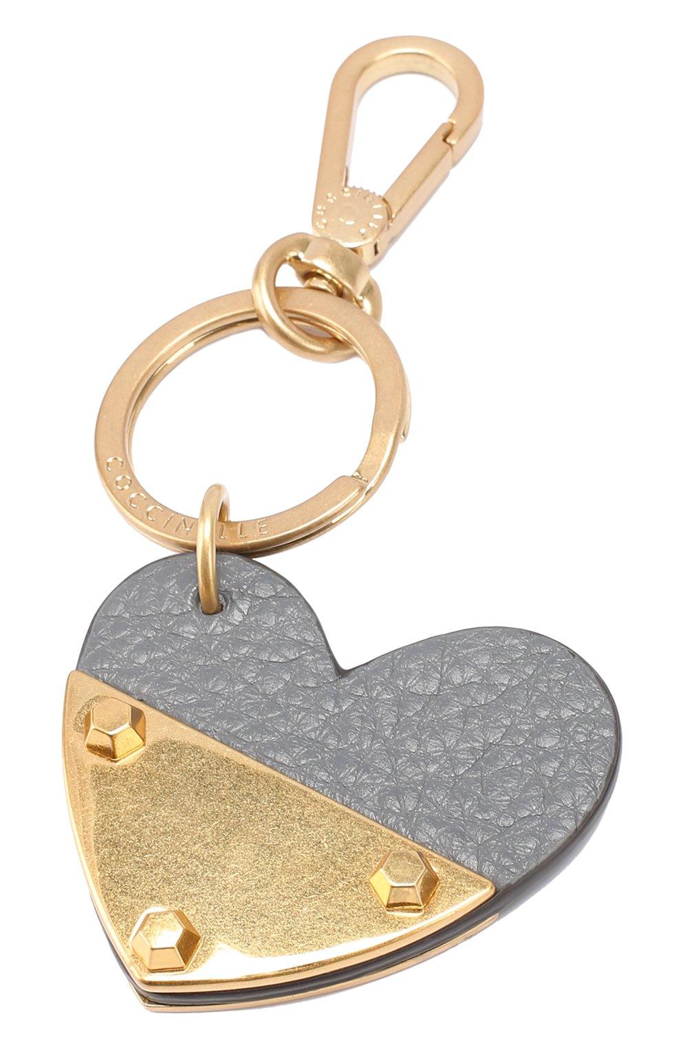 Кожаный брелок в виде сердца | Фото №3