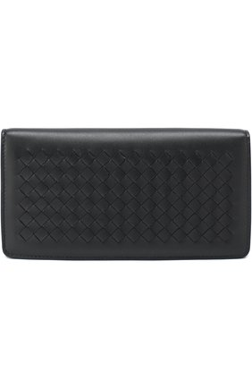 Кожаный бумажник с плетением intrecciato | Фото №1