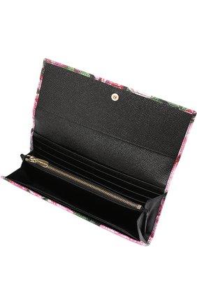 Кошелек из кожи с принтом Dolce & Gabbana розового цвета | Фото №3
