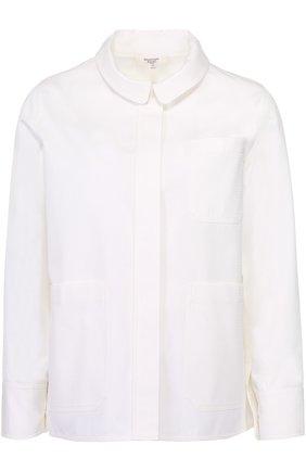 Жакет прямого кроя с накладными карманами Atlantique Ascoli белый | Фото №1