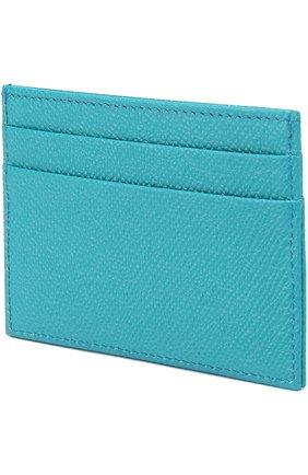Кожаный футляр для кредитных карт Dolce & Gabbana бирюзового цвета | Фото №2
