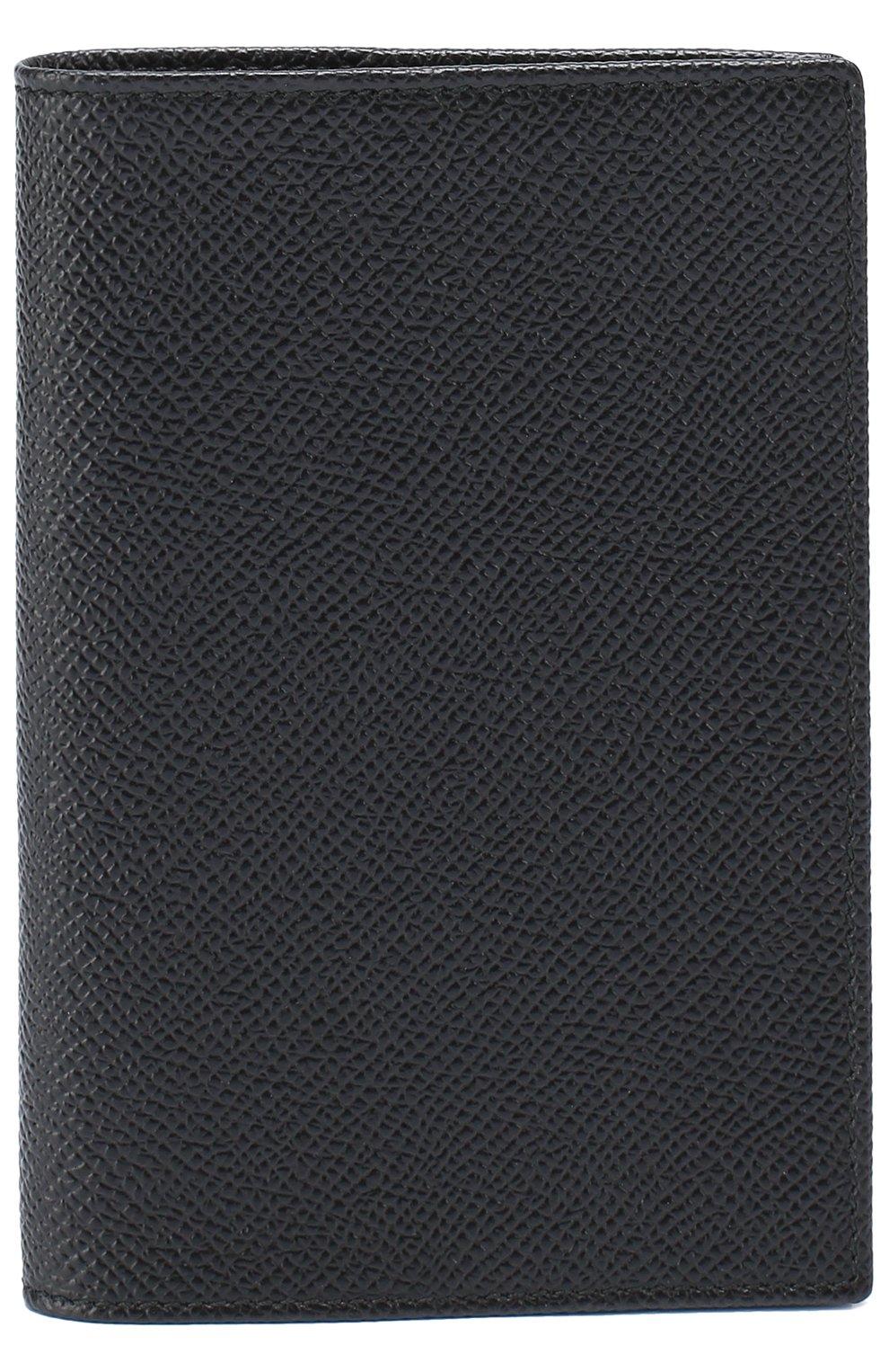 Комплект из обложки для паспорта и футляра для документов Dolce & Gabbana черного цвета | Фото №2