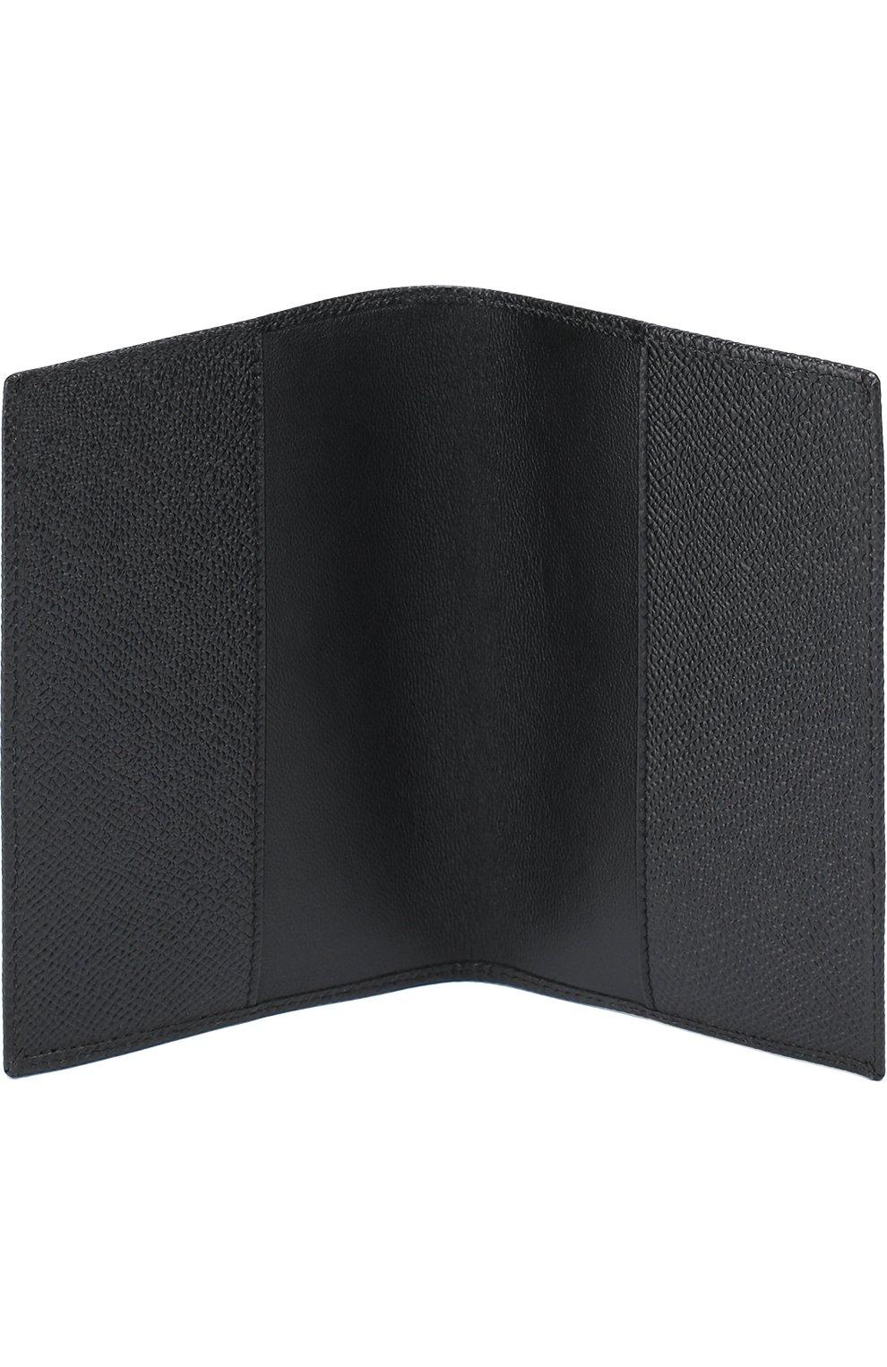 Комплект из обложки для паспорта и футляра для документов Dolce & Gabbana черного цвета | Фото №4