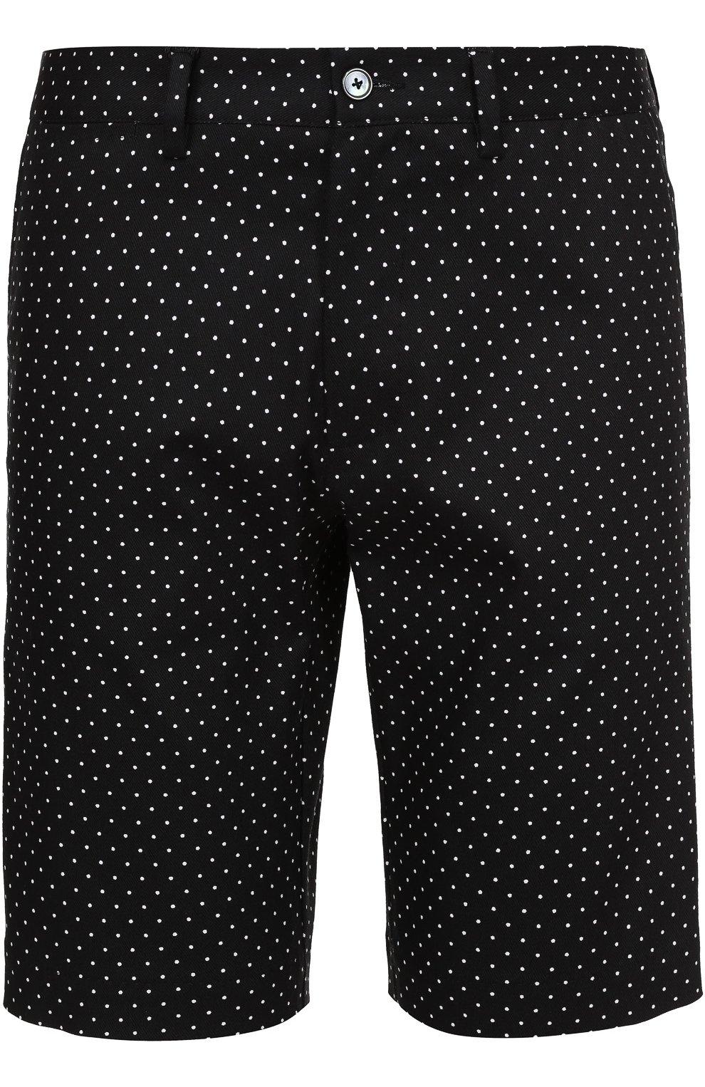 Хлопковые шорты с узором Polka Dot | Фото №1
