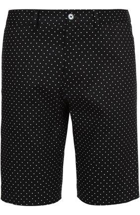 Хлопковые шорты с узором Polka Dot Dolce & Gabbana черные | Фото №1