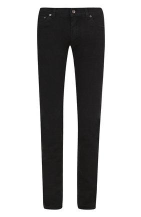 Джинсы-скинни с вышивкой на кармане Dolce & Gabbana черные | Фото №1