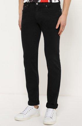 Джинсы-скинни с вышивкой на кармане Dolce & Gabbana черные | Фото №3