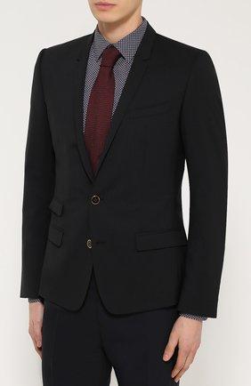 Шерстяной приталенный пиджак на двух пуговицах | Фото №3
