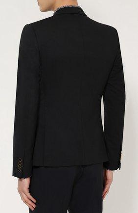 Шерстяной приталенный пиджак на двух пуговицах | Фото №4