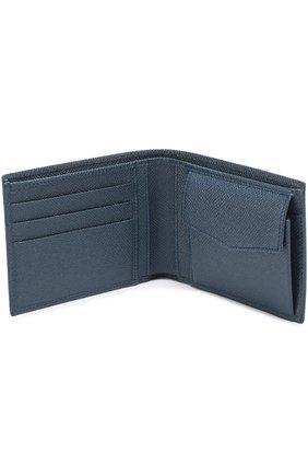 Кожаное портмоне с отделением для кредитный карт Dolce & Gabbana темно-синего цвета | Фото №3