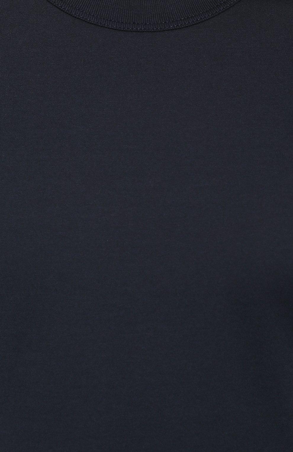 Хлопковая футболка с круглым вырезом | Фото №5