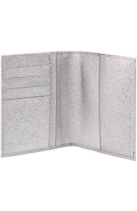 Обложка для документов из металлизированной кожи | Фото №3