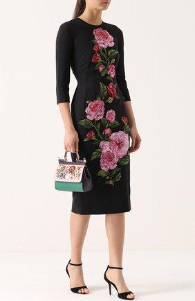 Замшевые босоножки с ремешком на щиколотке Dolce & Gabbana черные   Фото №2