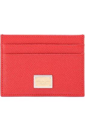 Футляр для кредитных карт Dolce & Gabbana красного цвета | Фото №1