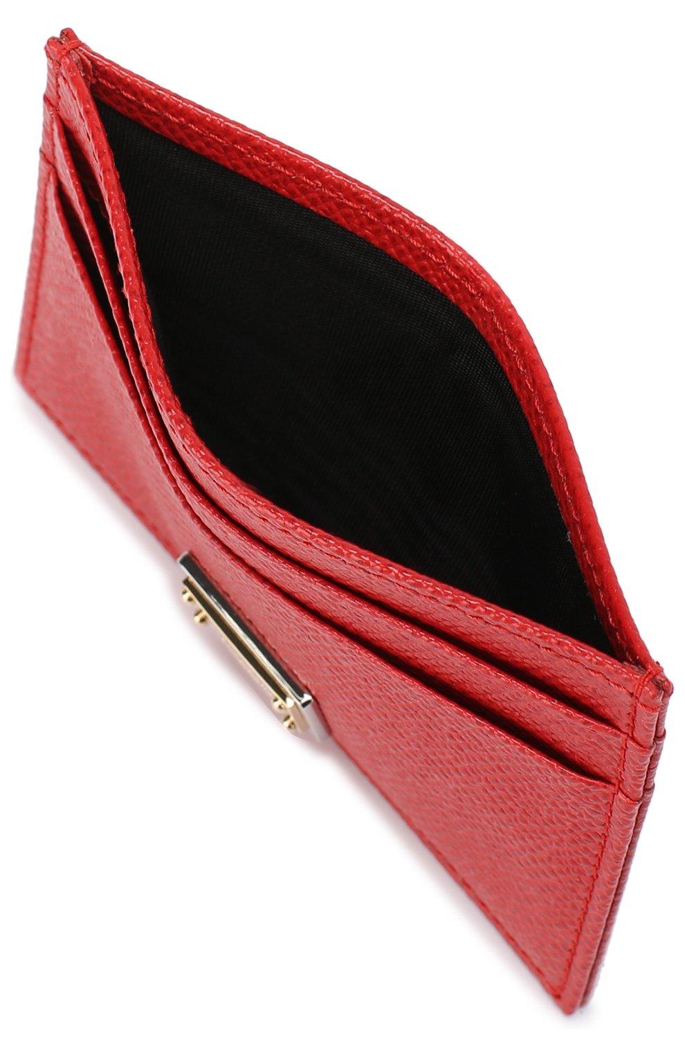 Футляр для кредитных карт Dolce & Gabbana красного цвета | Фото №3