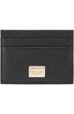 Футляр для кредитных карт Dolce & Gabbana черного цвета   Фото №1