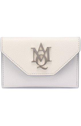 Женский футляр для кредитных карт ALEXANDER MCQUEEN кремвого цвета, арт. 439197/DN15I | Фото 1