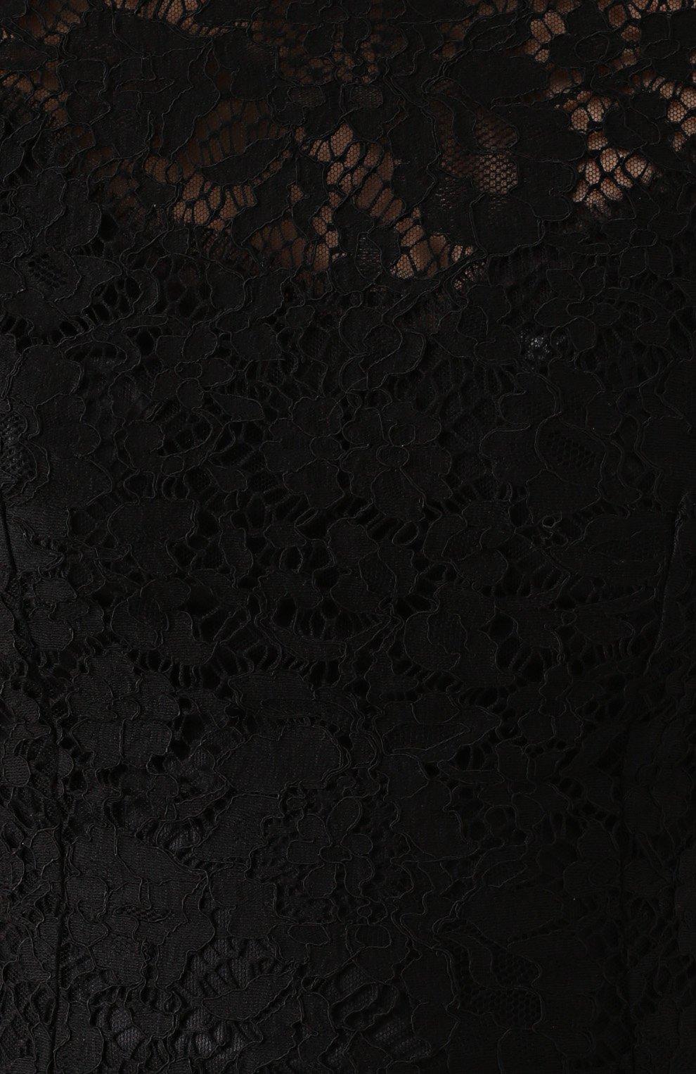 Приталенный кружевной топ без рукавов Dolce & Gabbana черный | Фото №5