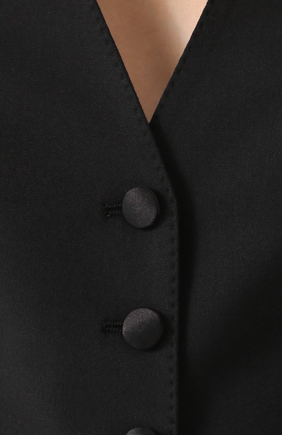 Приталенный укороченный жилет без рукавов | Фото №5