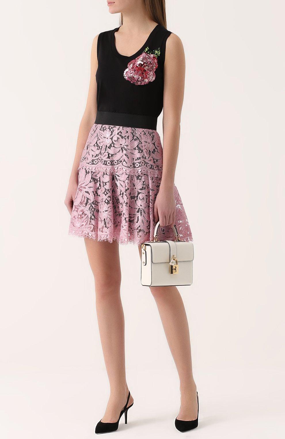 Сумка Dolce Soft Dolce & Gabbana белая цвета | Фото №2