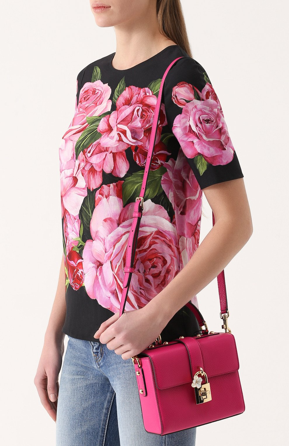 Сумка Dolce Soft Dolce & Gabbana фуксия цвета   Фото №5