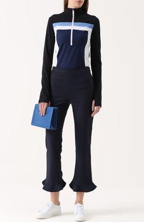 Кожаные кеды Bibi с вышивкой на заднике Sophia Webster белые | Фото №1
