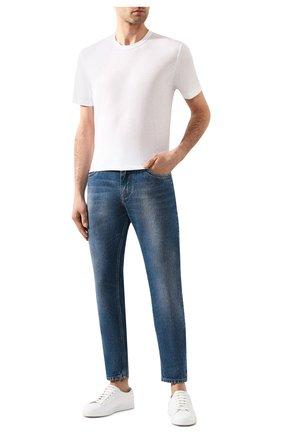 Мужская хлопковая футболка JAMES PERSE белого цвета, арт. MKJ3360 | Фото 2