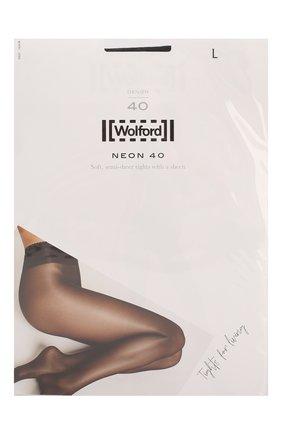 Женские капроновые колготки neon 40d WOLFORD черного цвета, арт. 18391   Фото 1