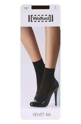 Женские капроновые носки WOLFORD бежевого цвета, арт. 40934 | Фото 1