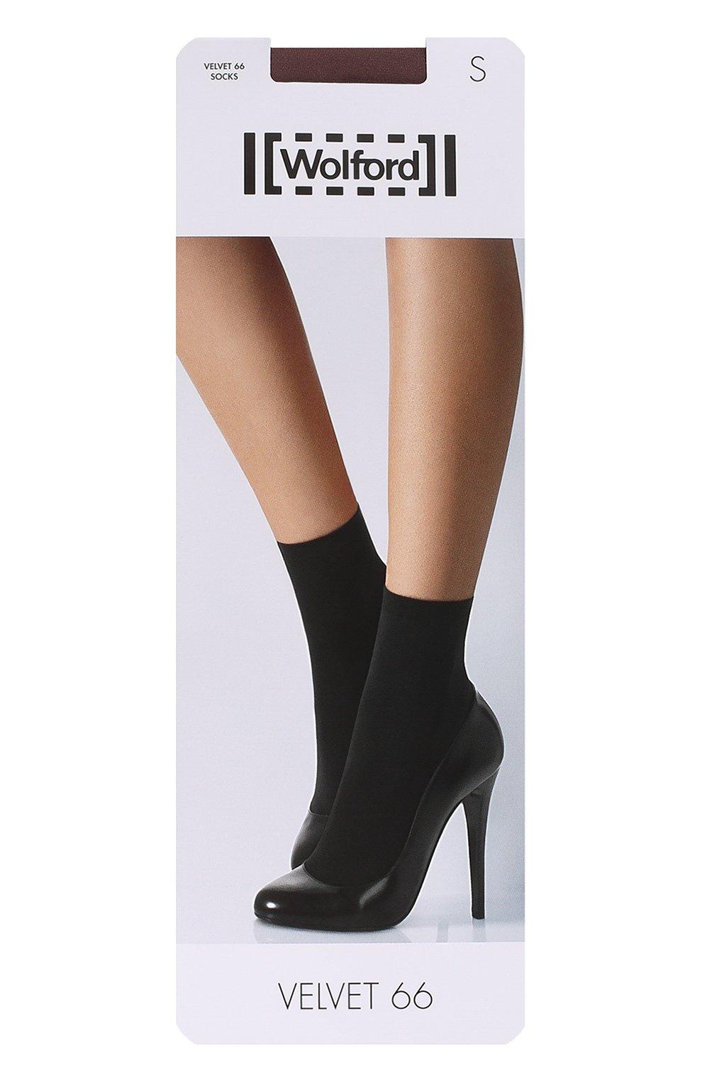 Женские капроновые носки WOLFORD черного цвета, арт. 40934   Фото 1