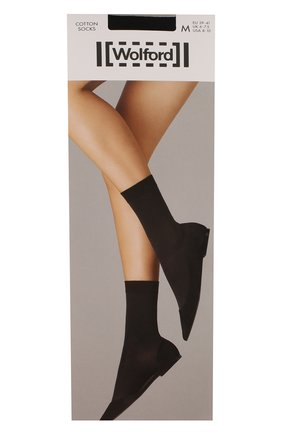 Женские капроновые носки WOLFORD черного цвета, арт. 45019 | Фото 1