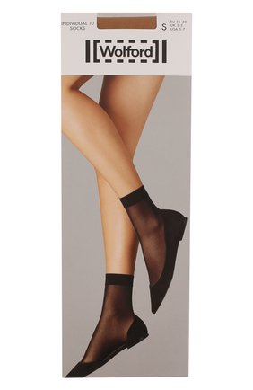Женские капроновые носки WOLFORD бежевого цвета, арт. 41260 | Фото 1