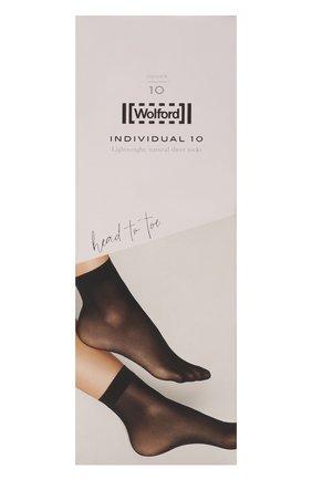 Женские капроновые носки WOLFORD черного цвета, арт. 41260 | Фото 1