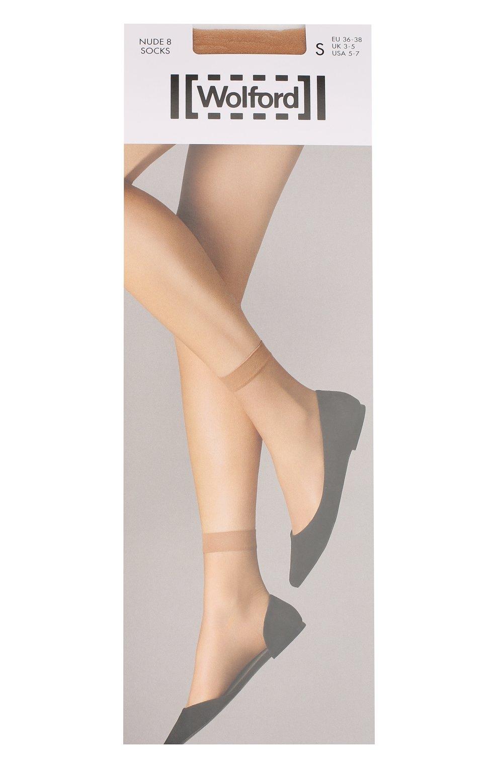 4c6032903decf Женские бежевые капроновые носки WOLFORD — купить за 1200 руб. в ...