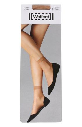 Женские капроновые носки WOLFORD бежевого цвета, арт. 40205 | Фото 1