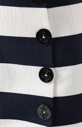 Мини-юбка в контрастную полоску с декоративными пуговицами Dolce & Gabbana синяя | Фото №5
