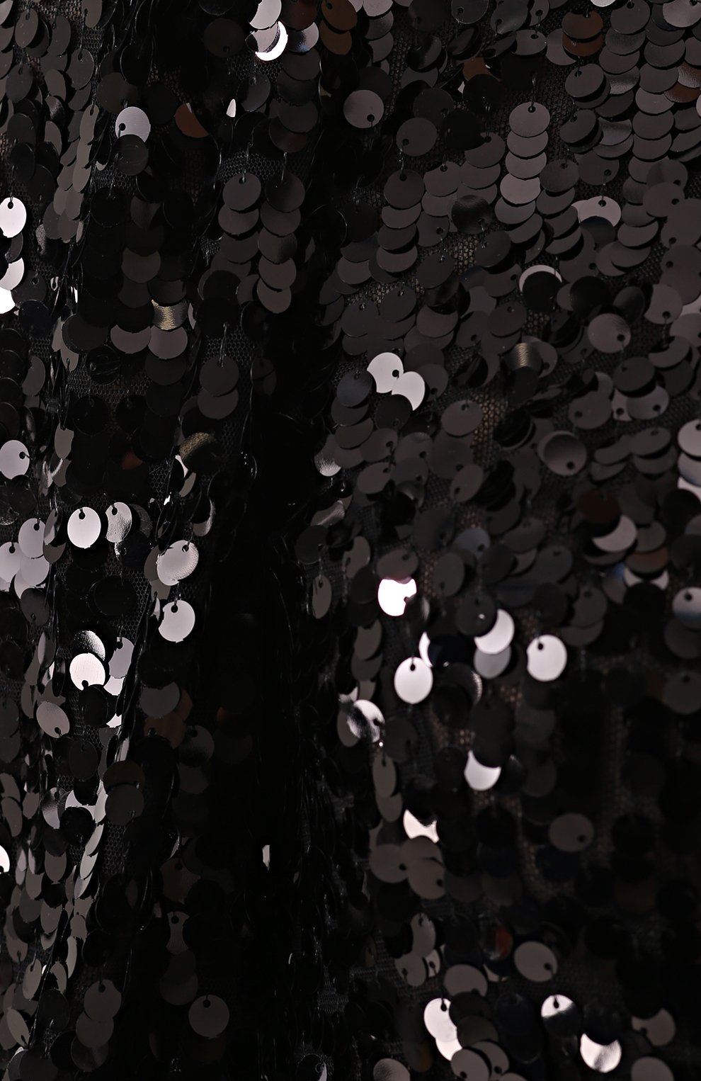 Мини-платье с пайетками и рукавом-фонарик Dolce & Gabbana черное | Фото №5