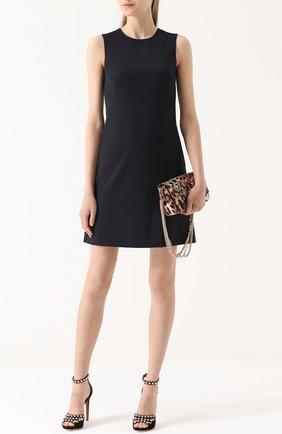 Приталенное мини-платье без рукавов Dolce & Gabbana темно-синее | Фото №2