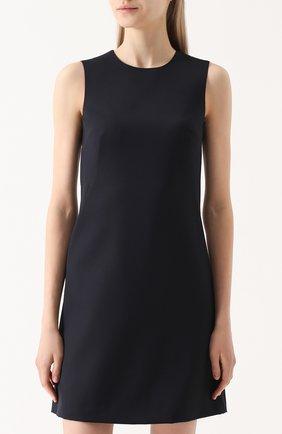Приталенное мини-платье без рукавов Dolce & Gabbana темно-синее | Фото №3