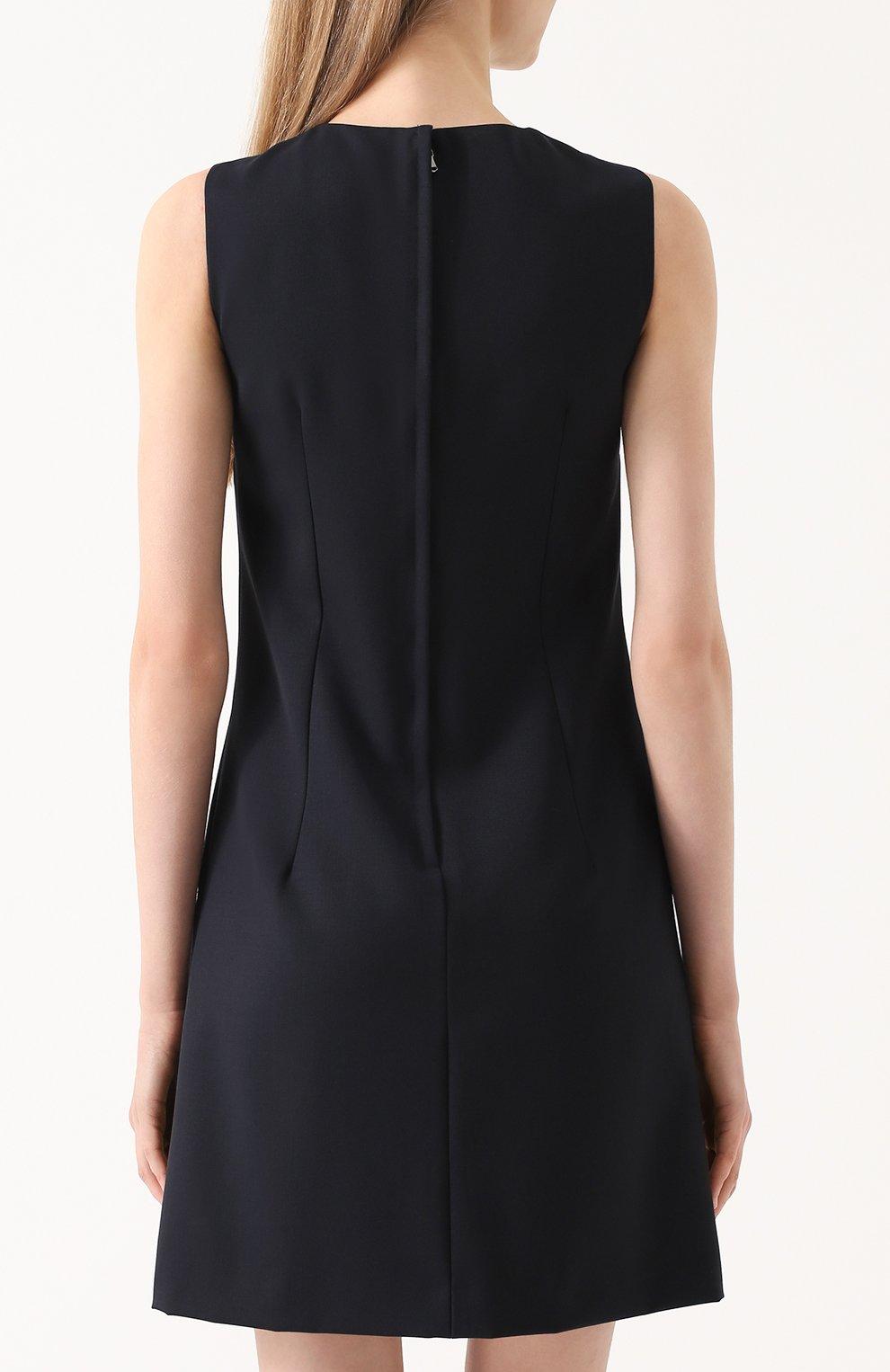 Приталенное мини-платье без рукавов Dolce & Gabbana темно-синее | Фото №4