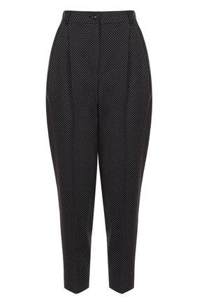Укороченные брюки-бананы в горох Dolce & Gabbana черные | Фото №1