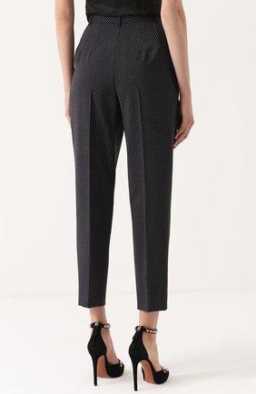 Укороченные брюки-бананы в горох Dolce & Gabbana черные | Фото №4