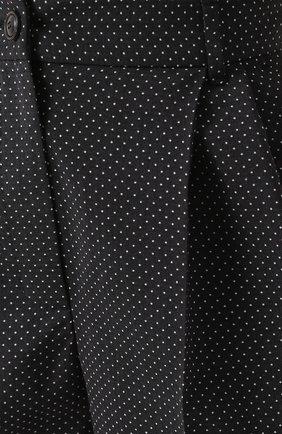 Укороченные брюки-бананы в горох Dolce & Gabbana черные | Фото №5